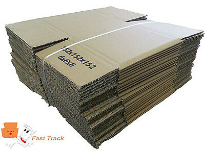 """6X6X6"""" Rectangle Single Wall Mailing Shipping Cardboard Boxes  *free Pp*"""