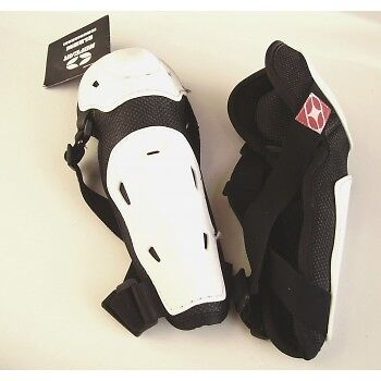 coudieres NO FEAR moto cross enduro bmx elbow pads blanc noir