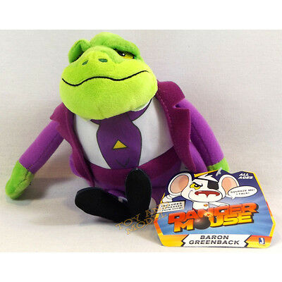 Danger Mouse Baron Greenback Talking Plush Soft Toy Jazwares Genuine UK NEW 2016