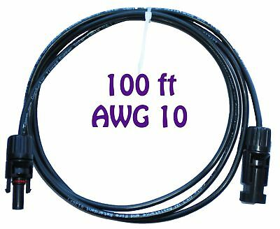 100ft AWG 10 Double Layer MC4 Solar PV cable extension