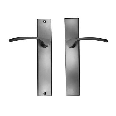 Nidus Door Handle Capri Lever On Longplate Passage Set Left Hand Satin Chrome