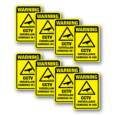 CCTV Warning stickers 8 pack quality 7 year water & fade proof vinyl