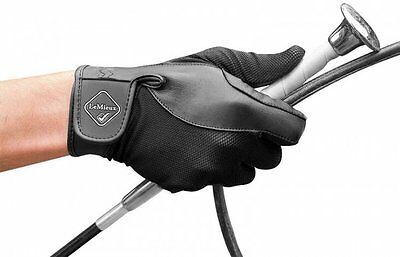 LEMIEUX PRO TOUCH PERFORMANCE RIDING GLOVES black genuine leather