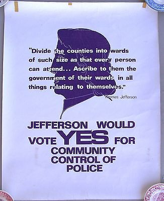 Berkeley Political Poster: Vote For Community Control of Police. Early 1970s.