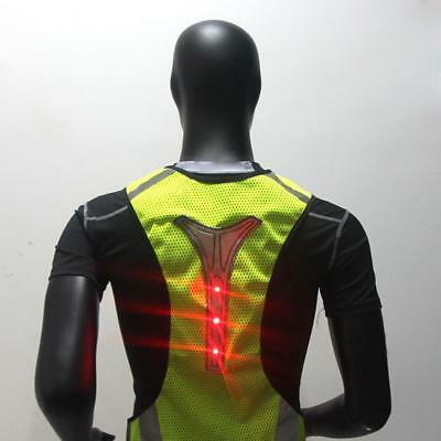 High Visibility Reflective LED Light Safety Vest Cycling Walking Gear Jacket
