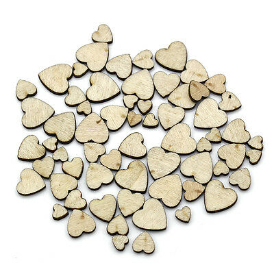 60pcs Lots Craft Wooden Heart Art Scrapbooking Cardmaking Boutique PARTY Decor