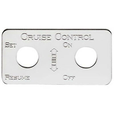 Kenworth Cruise Switch Plate, Stainless Steel