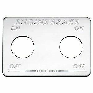 Freightliner Chrome Engine Brake Switch Plate Engrave
