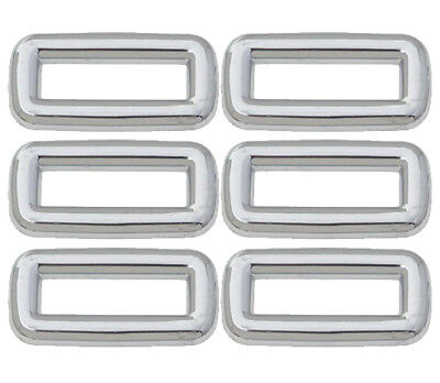 (6) Peterbilt Chrome Plain Switch Bezel Ergonomic Dash