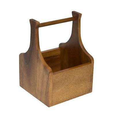 Wooden Cutlery Box / Caddy 140x140x200mm Rustic / Cafe / Restaurant / Bistro NEW