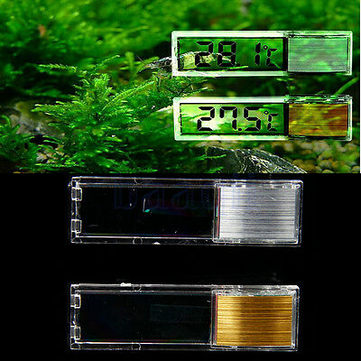 LCD 3D Crystal Digital poisson Reptile Aquarium Tank thermomètre température BA