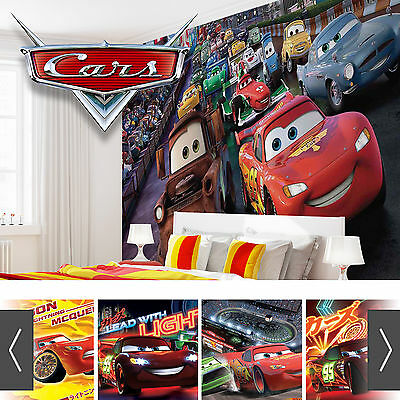 DISNEY CARS WALL MURAL PHOTO WALLPAPER XXL BOYS BEDROOM - 10+ DESIGNS x 5 SIZES!