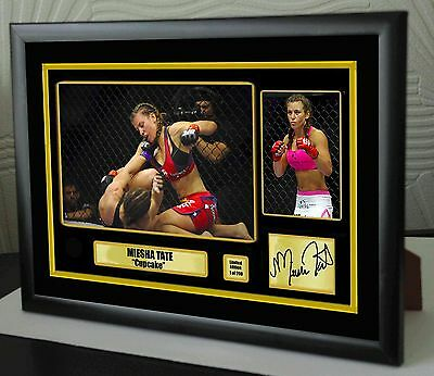 "Miesha Tate UFC canvas tribute signed Limited Edition ""Great Gift / Souvenir"""