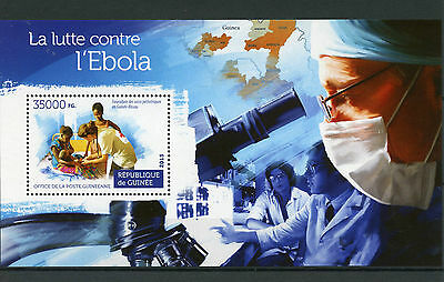 Guinea 2015 MNH Fight Against Ebola 1v S/S Medical Health