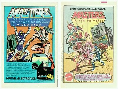 Lot of TWO (2) vintage 1980's He-Man Masters of The Universe MOTU print ad pages