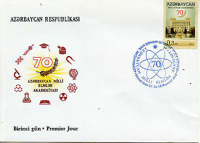 Azerbaijan 2015 FDC Academy of Sciences 70th Anniv 1v Set Cover Architecture