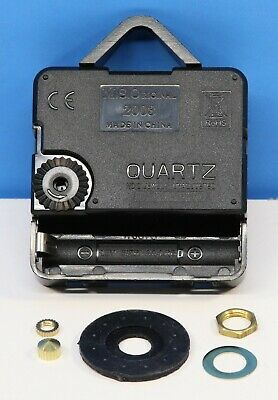 """Quartz Battery Clock Movement LIFETIME WARRANTY For 3//8/"""" Thick Dial SCROLL HAND"""