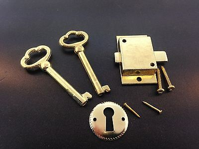 Grandfather or Grandmother Clock Flush Mount Front Door Lock and 2 Keys