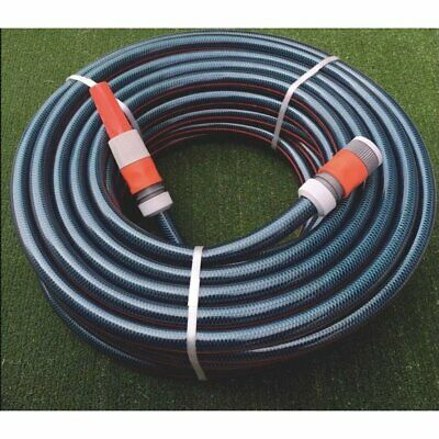 "Garden Watering Water Hose 100M with 3/4"" / 18MM Plastic Fittings & Nozzle"