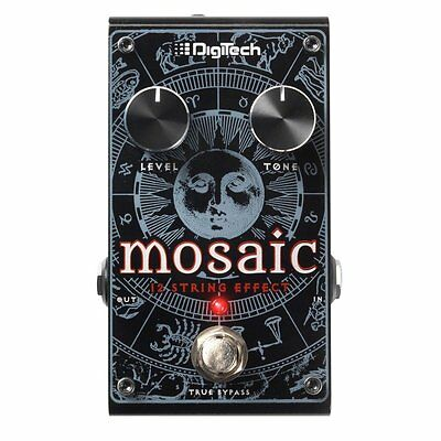 Digitech Mosaic Polyphonic 12-String Pitch Shift True Bypass Guitar Effect Pedal