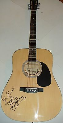 """John Prine signed Full Size Acoustic Guitar """"Angel From Montgomery"""" Inscription"""