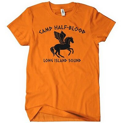 CAMP HALF-BLOOD LONG ISLAND SOUND Womens T-Shirt Tee Percy Olympus Jackson Book