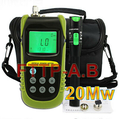 New Fiber Optical Power Meter 15-20km 20mW Visual Fault Locator Cable Tester kit