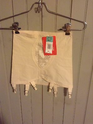 New w/ Tags! Vintage Young Smoothie open bottom girdle w/ 6 garters sz med