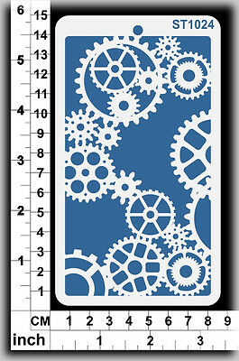 Stencils Templates Masks for Scrapooking, Cardmaking - Gears ST1024