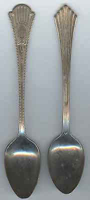 2 Different Demitasse Spoons - both nickle silver