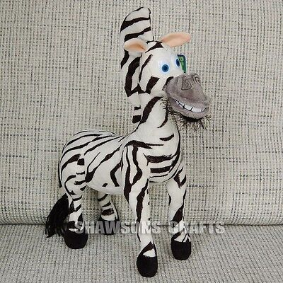 "Madagascar Plush Stuffed Toys The Zebra 10"" Marty Soft Doll Figure"