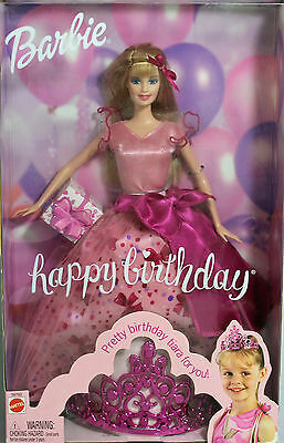 Happy Birthday Barbie with Tiara Barbie 2002, MIB NRFB - 56793