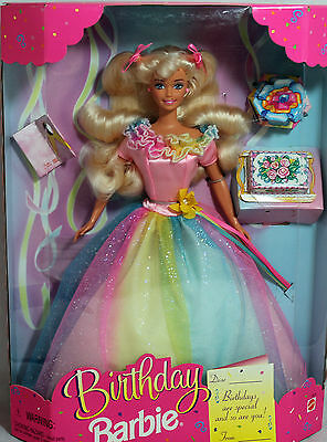 Blonde Birthday Barbie 1997, MIB NRFB - 18224