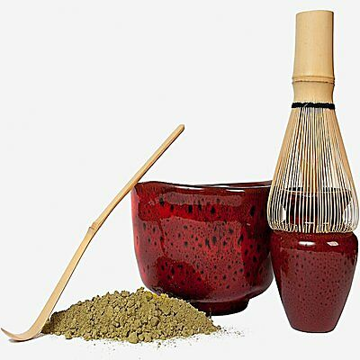 5 Piece Deluxe  Matcha Starter Kit, Bowl, Stand, Whisk, Scoop & Organic Matcha