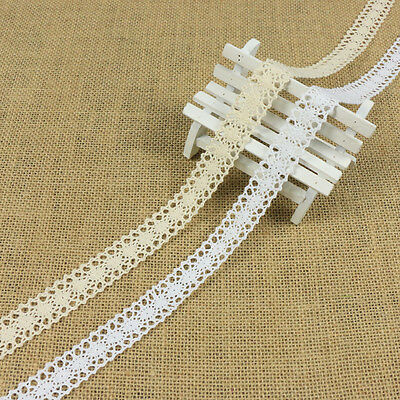 12M Vintage Lace Trim Crochet Ivory White Cream Wedding Sewing Bridal Ribbon