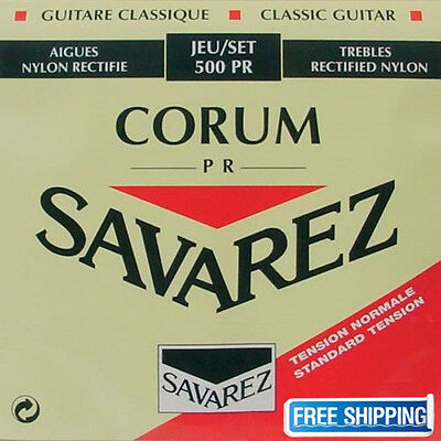 Savarez 500PR Guitar Strings Nylon Corum Cristal Classical Standard Tension Set