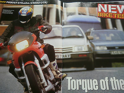 Bmw F650St Strada # 6 Page Original Motorcycle Road Test