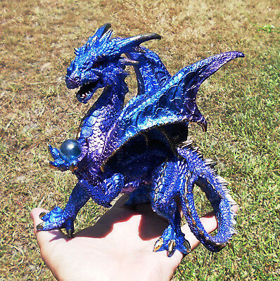 Mystical Blue Dragon with Ball  18cm