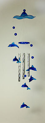 Blue Dolphin Wind Chime/ Windchime, 38 cm long