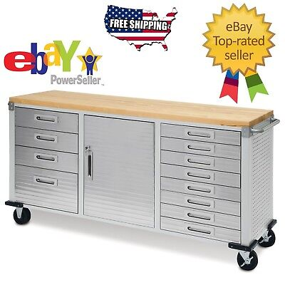 Enjoyable Garage Rolling Metal Steel Tool Box Storage Cabinet Wooden Squirreltailoven Fun Painted Chair Ideas Images Squirreltailovenorg