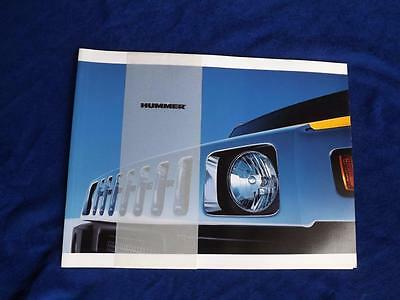 Hummer 2003 Sales Brochure & Accessories Catalog New Unsealed