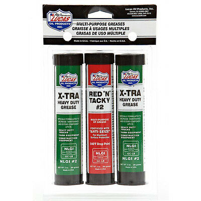 Lucas Red N Tacky & XTRA Heavy Duty Grease Pack 85 Gram