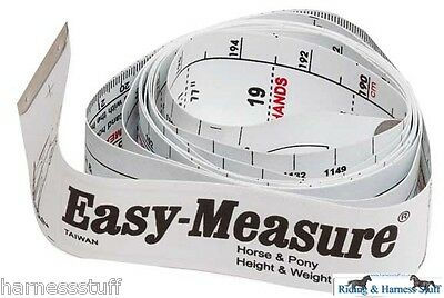 Easy Weigh Horse Pony Weight and Height Tape Band