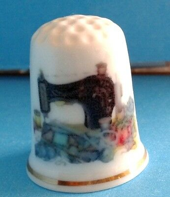 """Old Sewing Machine"" - Bone china Thimble"