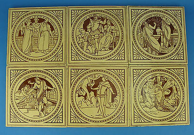 Antique 'Victorian' MINTONS John Moyr Smith Shakespeare Tiles c1880. Choice of 5
