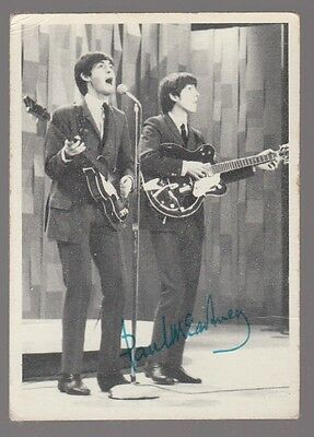 "[59073] 1964 Topps ""the Beatles"" #122 Paul & George Trading Card"