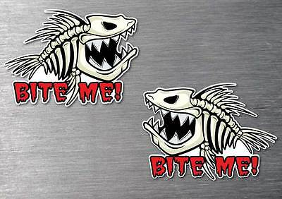 Fear no Fish 2 pack sticker quality water /& fade proof 7 year vinyl