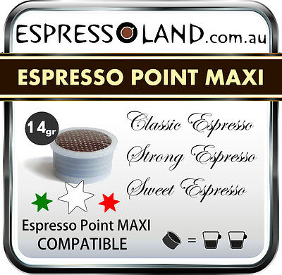 Espresso Point Maxi  Compatible Capsules 75 Capsules double Shot