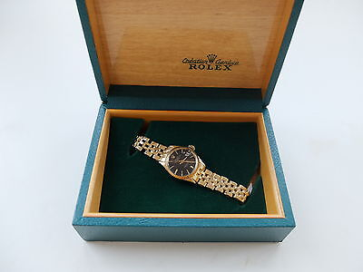 ROLEX OYSTER PERPETUAL LADY DATEJUST Vintage 750 Gold - 70er Jahre + Box