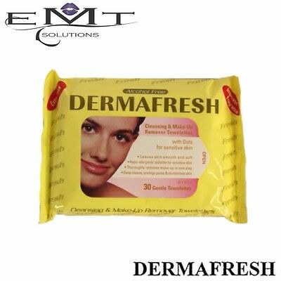 Dermafresh Cleansing & Makeup Remover Towelettes - With Oats For Sensitive Skin